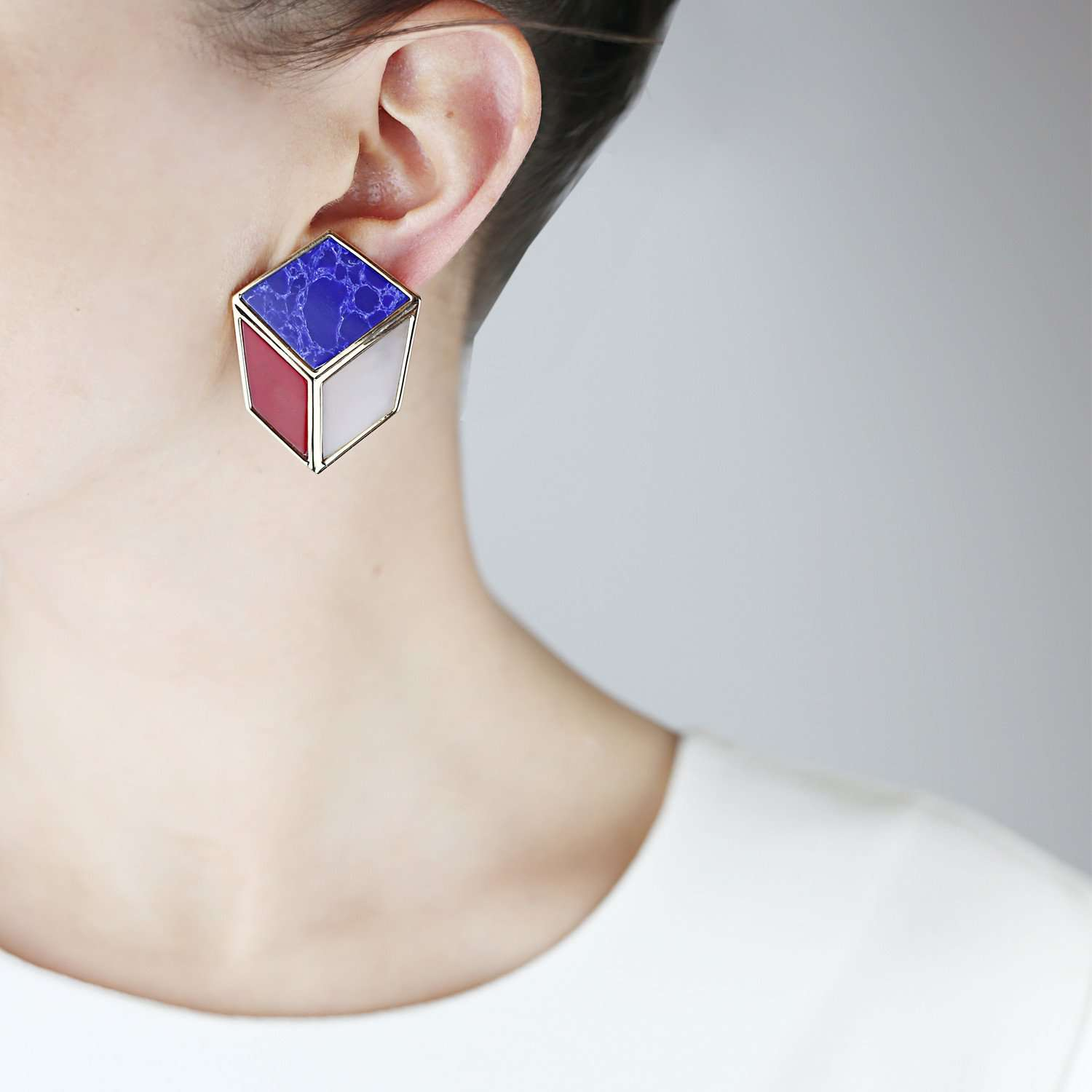 Lava Geometric Earrings