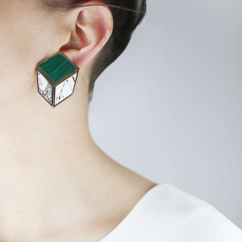 Playful Malachite Earrings