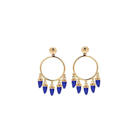Gold plated capsule pair Earrings | ESHVI