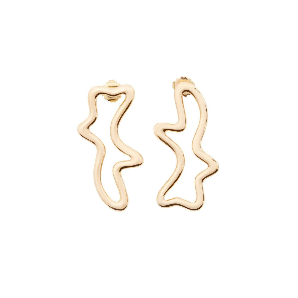 Buy statement yellow gold earring by UK fashion designer