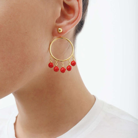 Gold plated hoop pair Earrings