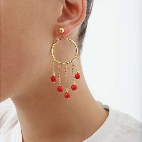Gold plated capsule pair Earrings