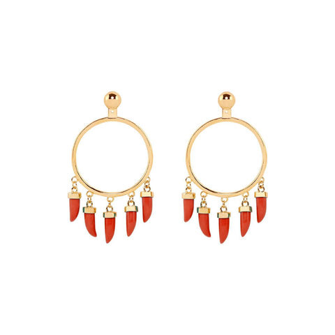 Capsule pair earrings