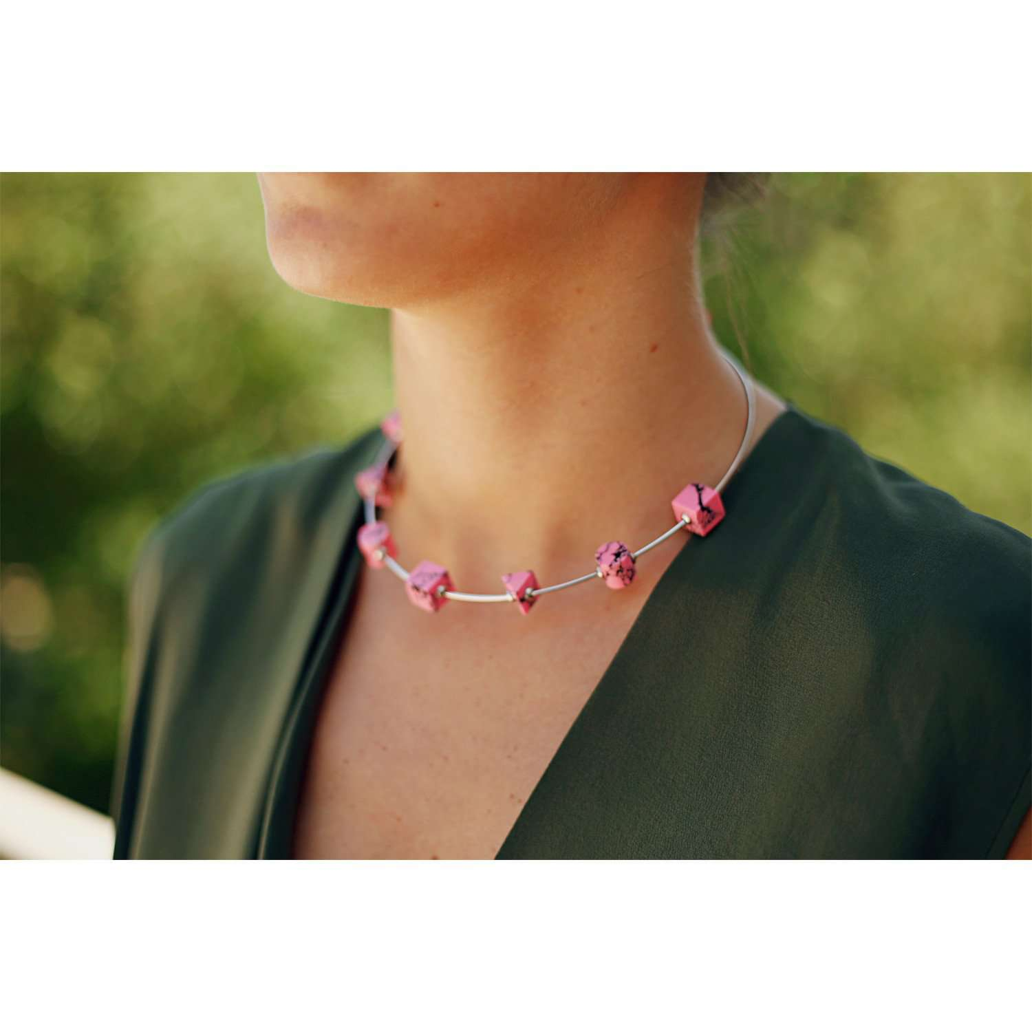 Eshvi: Back to school thin choker | Jewelry > Necklaces,Jewelry -  Hiphunters Shop