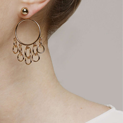 Shop online and find out yellow gold plated metal earrings