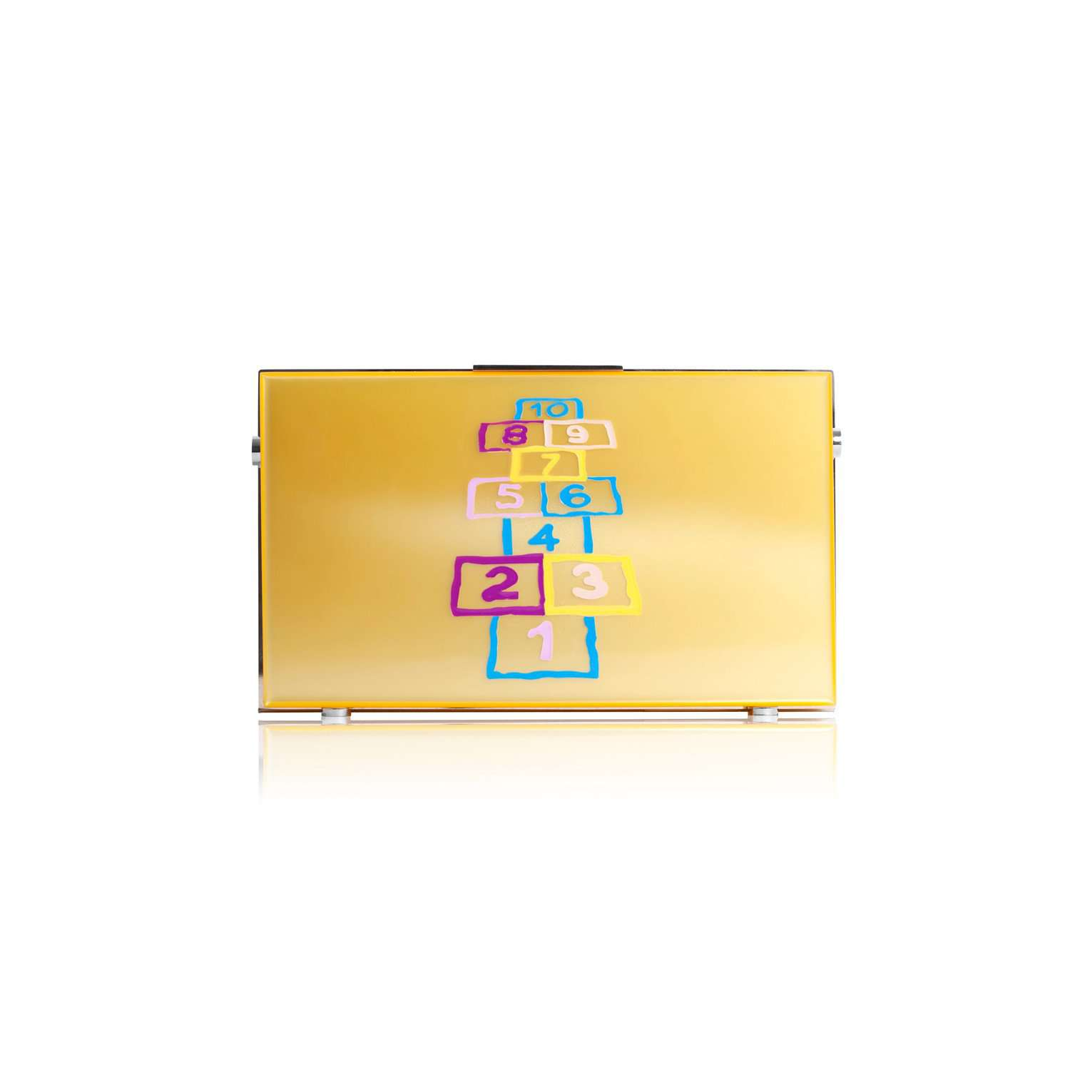 Hopscotch clutch bag