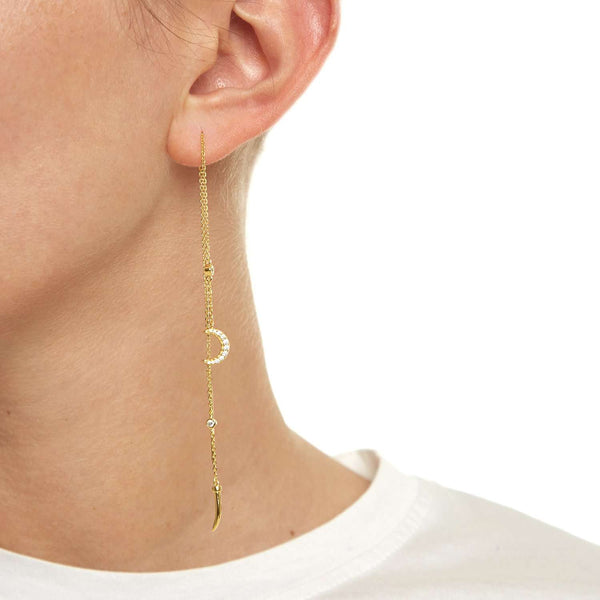 Moon Earrings with crystal