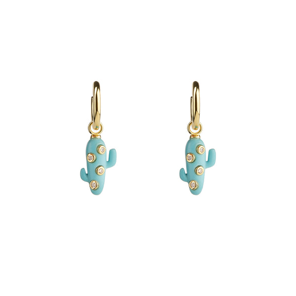 Turquoise Mini Cactus Earrings