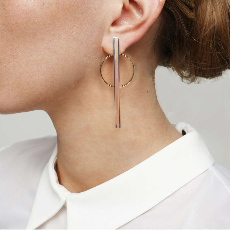 Shop online circle-stick earrings