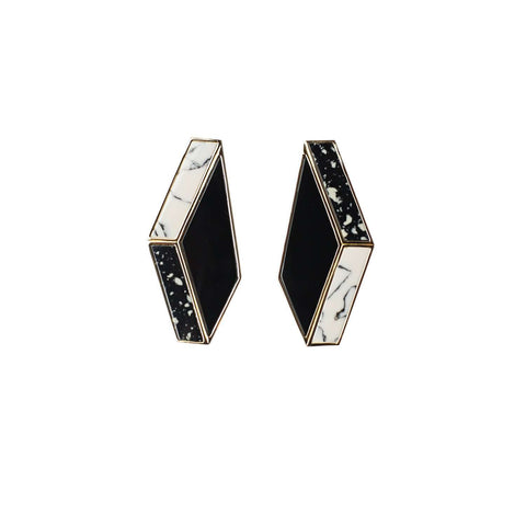 Clip on Black Earrings