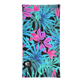 DevOcean Tropical flowers Neck Gaiter - Think Before Extinct