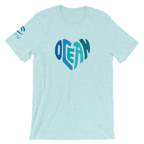Ocean at Heart Short-Sleeve Unisex T-Shirt - Think Before Extinct