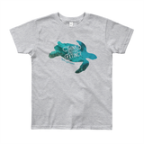 Sea Turtle Youth Short Sleeve T-Shirt - Think Before Extinct