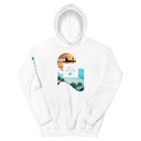 DevOcean Sun Surfer Unisex Hoodie - Think Before Extinct