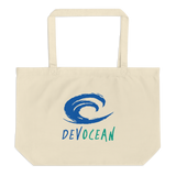 DevOcean Large organic tote bag - Think Before Extinct