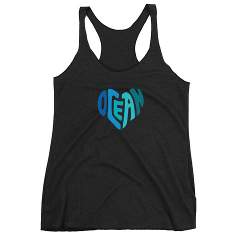 Ocean at Heart Women's Racerback Tank - Think Before Extinct