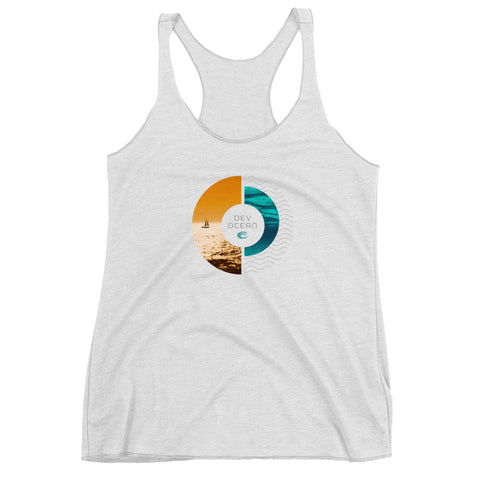 DevOcean Sailing Women's Racerback Tank - Think Before Extinct
