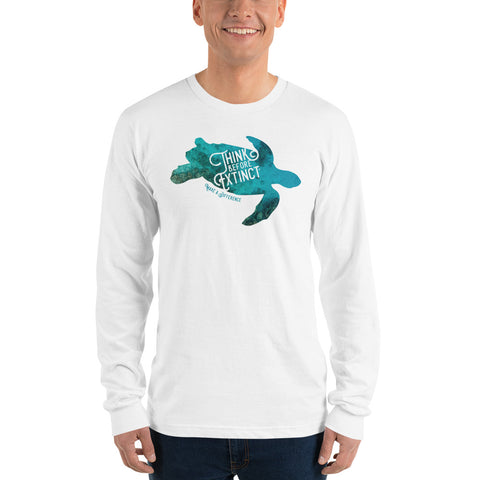 Sea Turtle Long sleeve t-shirt - Think Before Extinct