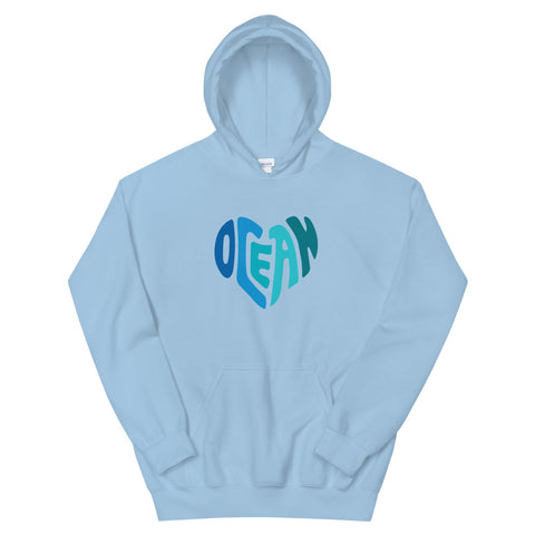 Ocean at Heart Unisex Hoodie - Think Before Extinct