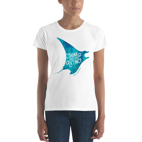 Women's short sleeve Manta t-shirt - Think Before Extinct