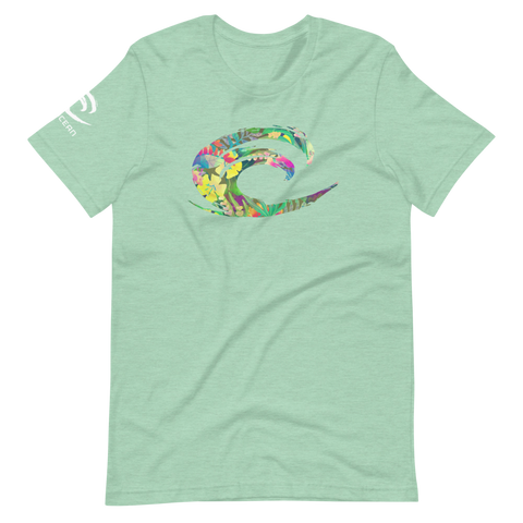 Big Wave Tropical Short-Sleeve Unisex T-Shirt - Think Before Extinct