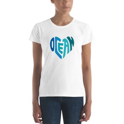 Ocean at Heart Women's short sleeve t-shirt - Think Before Extinct