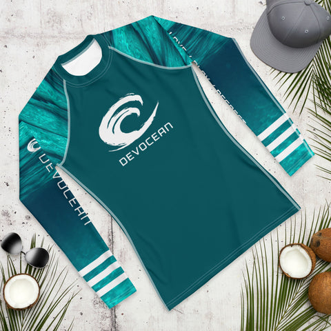 DevOcean Waves Men's Rash Guard