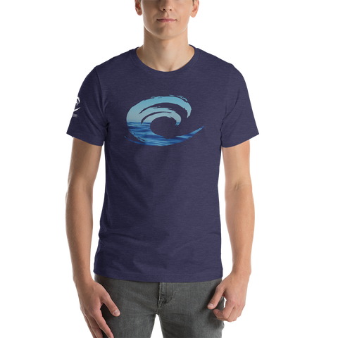 Big Wave Ocean Short-Sleeve Unisex T-Shirt - Think Before Extinct