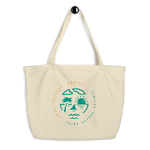 Love Respect Protect Large organic tote bag - Think Before Extinct