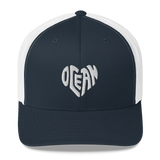 Ocean at Heart Trucker Cap - Think Before Extinct