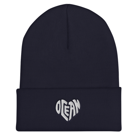 Ocean at heart blue beanie hat