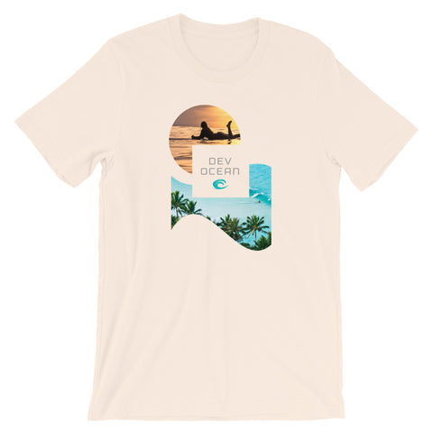 DevOcean Sun Surfer Short-Sleeve Unisex T-Shirt - Think Before Extinct