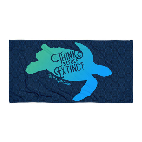Sea Turtle Beach Towel - Think Before Extinct