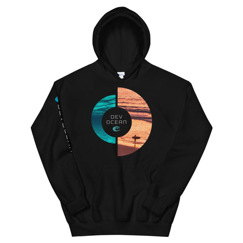 DevOcean Sunset Unisex Hoodie - Think Before Extinct