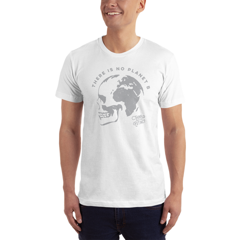 no planet b beach shirt with skull and earth