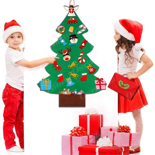 Kids Felt Christmas Tree / Snowman with Ornaments
