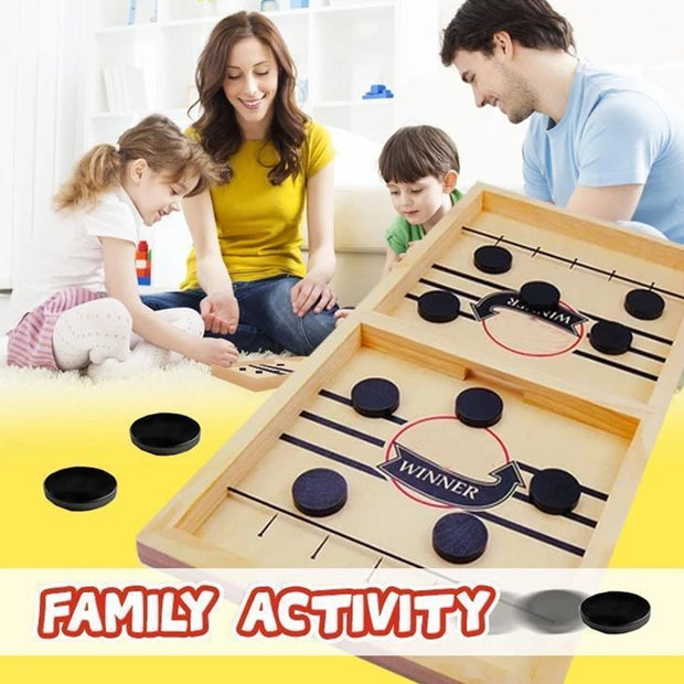 Wooden Hockey Sling Puck Game