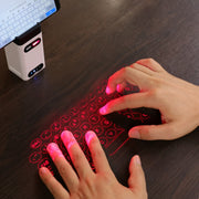 Laser Projection Bluetooth Virtual Keyboard With Power Bank