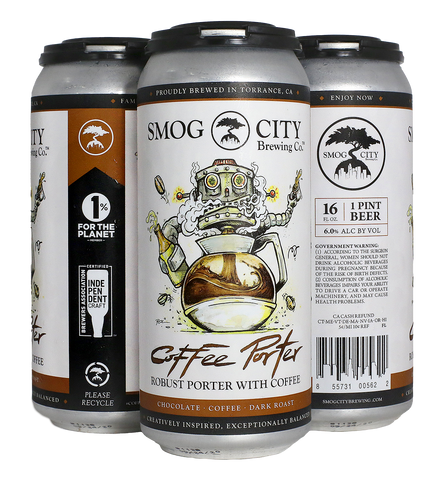 Coffee Porter 4-Pack Cans (CA Beer Shipping)
