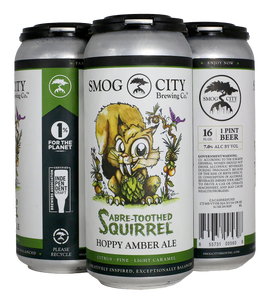 Sabre-Toothed Squirrel 4-Pack Cans (CA Beer Shipping)
