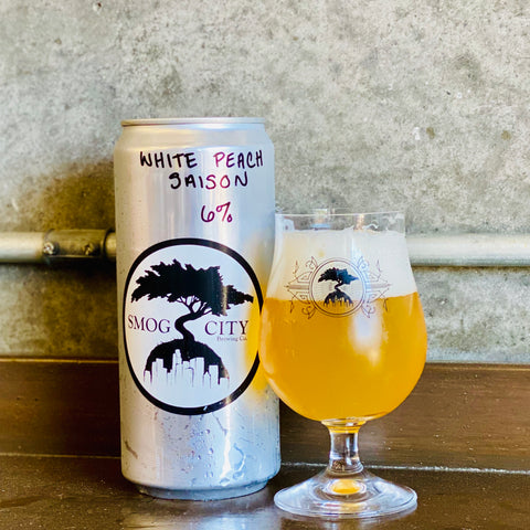 White Peach Saison 32oz Crowler