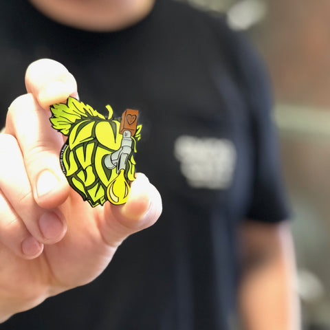 GIANT HOP ENAMEL PIN