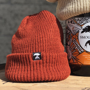 WATCH CAP BEANIE-RUST