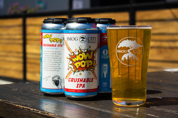 Wow Pop! Crushable IPA 4-Pack Cans (CA Beer Shipping)