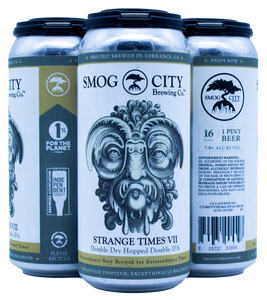 Strange Times VII Double Dry Hopped Double IPA - 4pk 16oz cans (CA Beer Shipping)