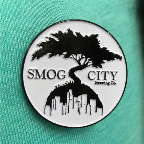 LOGO TREE ENAMEL PIN- BLACK/WHITE