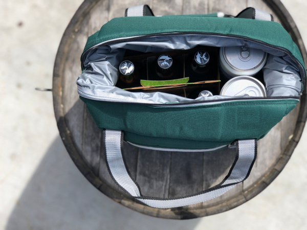 GREEN SMOG CITY INSULATED COOLER BAG