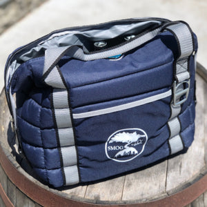 NAVY BLUE SMOG CITY INSULATED COOLER BAG