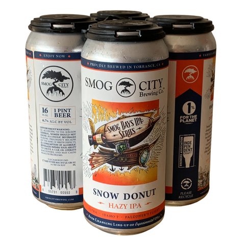 Snow Donut Hazy IPA 4-Pack Cans (Smog Days IPA Series)