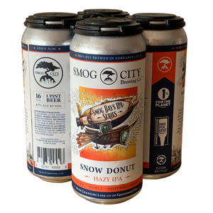 Snow Donut Hazy IPA 4-Pack Cans, Smog Days IPA Series (CA Beer Shipping)